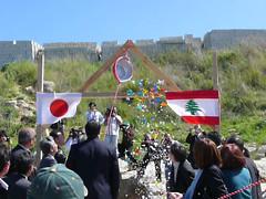"""9条はと""""きゅうちゃん""""レバノンの空に舞う"""