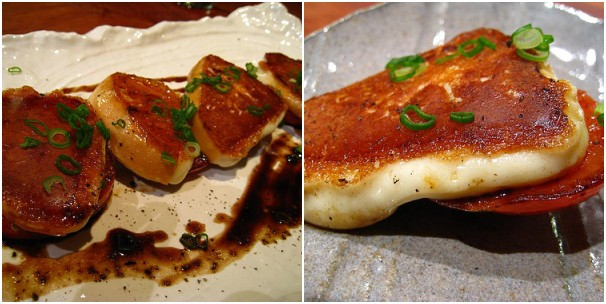 Grilled Scamorza Cheese w Balsamic Soy Sauce