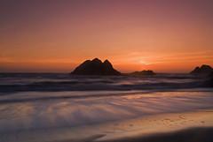 Rock a Sunset (AMuljadi) Tags: sf sanfrancisco sunset sun landscape pacificocean oceanbeach d200 breathtaking 1870mm cliffhouse cokin gnd graduatednd nikonstunninggallery platinumphoto aplusphoto platinumsuperstar breathtakinggoldaward