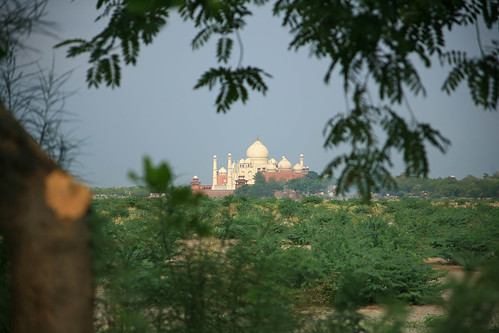 Distant Taj from Red Fort - Arga