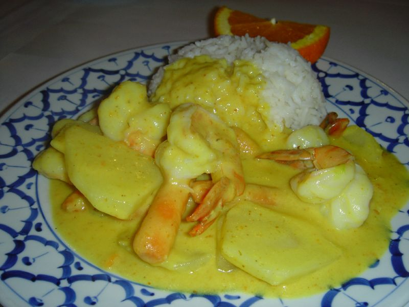Yellow Curry with Shrimp