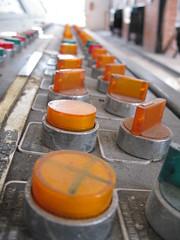 la sala dei bottoni (LucaZ FeliXONE) Tags: quadro comando bottoni pulsanti