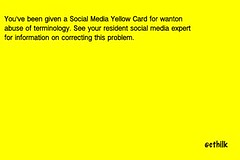 Social Media Yellow Card (Chris Thilk) Tags: flag heh yellowcard socialmedia onnotice