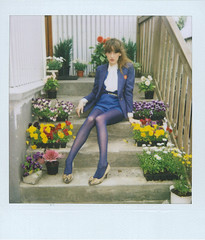 ida (Saga) Tags: pink flowers film yellow socks vintage hair polaroid blog 60s pumps girly stripes style reykjavik 600 heels looks 50s saga ida polo bows petticoats reykjaviklooks
