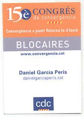 Acreditació Blocaire 15è Congrés de Convergència