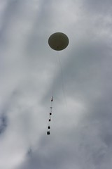 Balloon and payloads just after launch