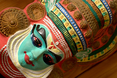 Kathakali (Anand Balaji) Tags: india face dance paint mask pentax indian south traditional kerela kathakali k100d