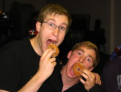 Doughnut eating competition