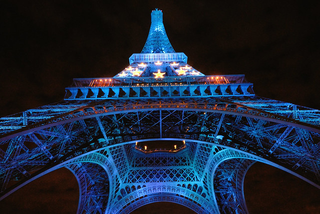 The Eiffel tower in blue - 1