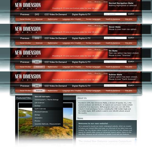 Free Web Menu Navigation PSD