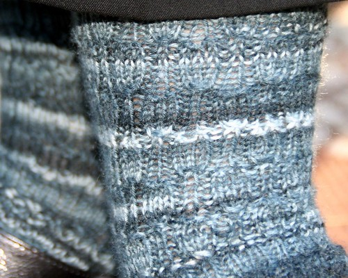 Undulating rib socks, detail
