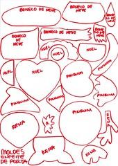 Molde placa de natal (Ateli Ma do Amor - By Carol Lidman) Tags: natal molde