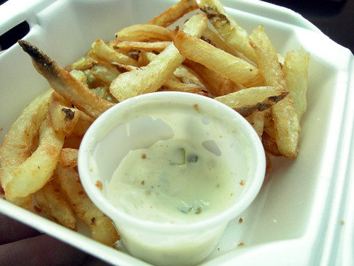 Fries and tarter sauce