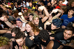 Crowd during Leftover Crack (konstantin sergeyev) Tags: nyc eastvillage newyork downtown lowereastside crowd loc riots punks tompkinssquarepark squatters leftovercrack 20thanniversary chokingvictim
