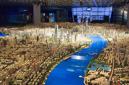 2737564353 888ecf16ee Maquete de 100m² mostra Shanghai em 2020