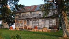 Log  Underneath / Kiernan Farm (The Feedman) Tags: abandoned farm kentucky silo marioncounty loghome