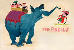 """The Pink Hat"" Illustration by Paul Hartley, 1957"