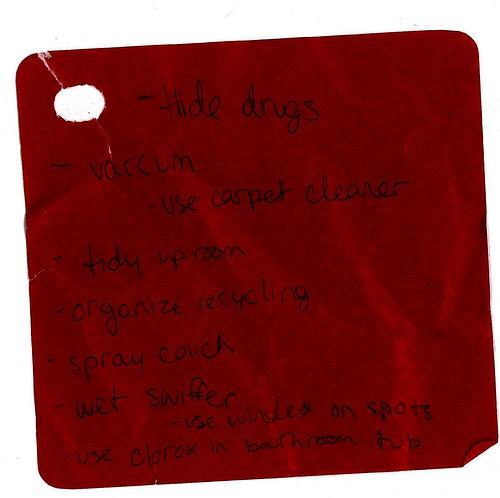 hide drugs