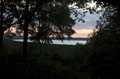 sunset on good harbor bay