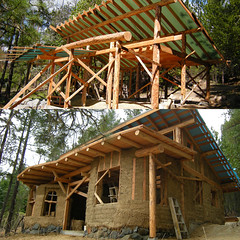 when I arrived (tylerwawa) Tags: building natural framed pole clay local cob timbers strawbale lightstraw