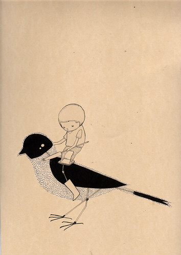 Bird Ridden, Bird Slave. [print for sale]