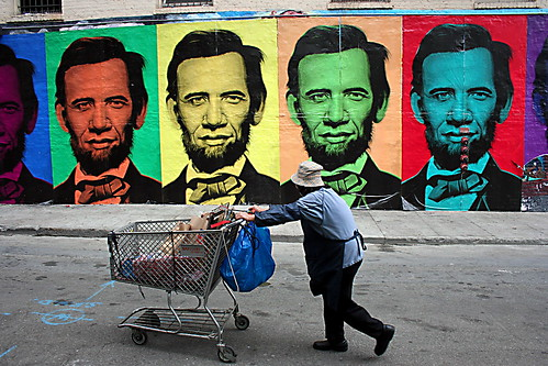 Obama/Lincoln Post up from Enrguerro on Flickr