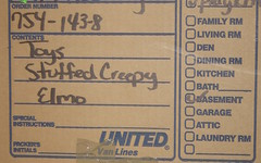 My favorite mover labeled box