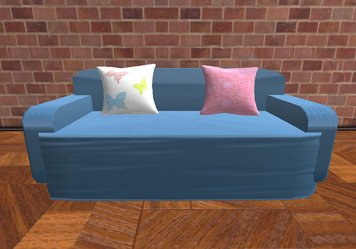 Low Prim Blue Sofa