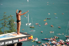 Red bull cliff diving (cinevideogroup) Tags: television austria oostenrijk highdefinition redbull cliffdiving wolfgangsee ostenreich cinevideogroup