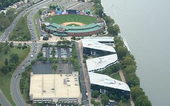 Trenton Thunder Stadium (PHLAIRLINE.COM) Tags: plane stadium aviation flight airline planes thunder trenton bizjet ttn trentonmercerairport