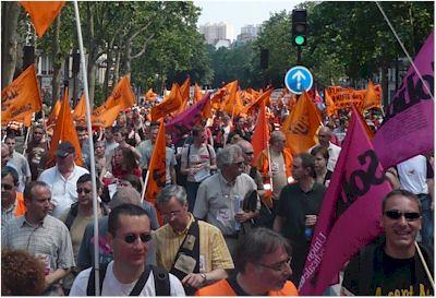 Manifestation du 10 juin 2008 contre la mobilité