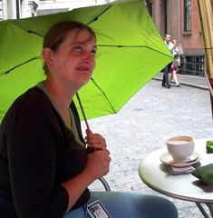 Kate in the Rain at Financier