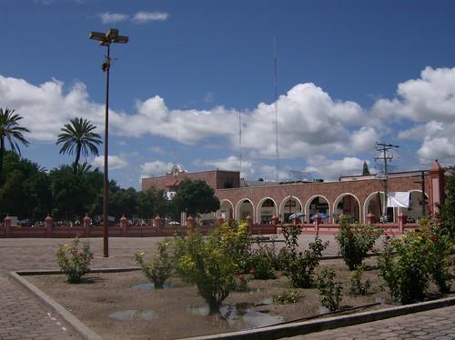 Atrio de la catedral de Huajuapan
