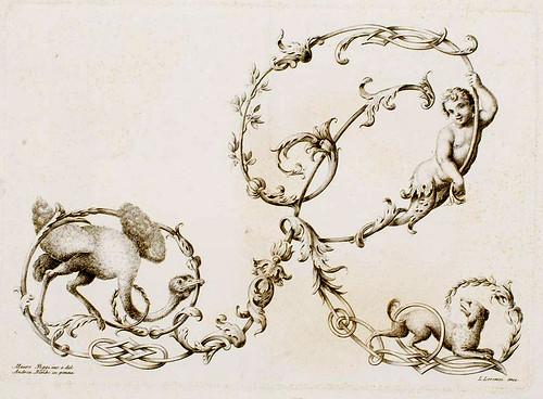 23-Letra R- Poggi Mauro 1750 - Alfabeto di lettere iniziali