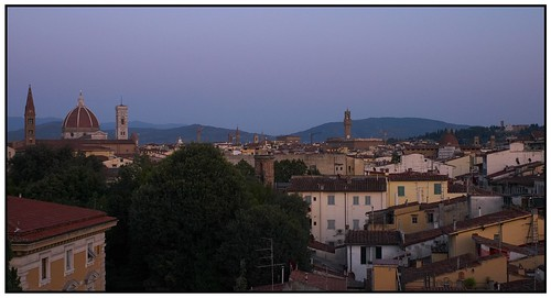 View of the Duomo, Florence from The Grand Hotel Villa Medici at Dusk