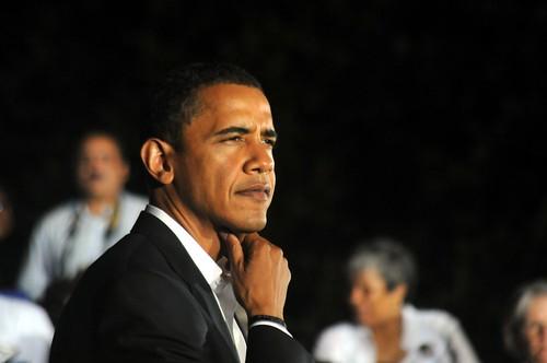 Barak Obama at Rally on UMW Campus