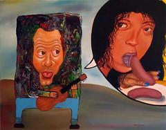 Please Warm my Wiener (Jimmy McCullough) Tags: sanfrancisco art painting paint artist acrylic surrealism jimmy painter dada artbrut mailart avant garde avantgarde mccullough fluxus artsits maultrommel doromb sanfranciscoartist jimmymccullough rompidamedialab jewsharpplayer
