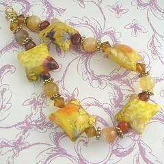sunshine polymer clay bead bracelet