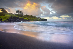 Waianapanapa Sands - Maui (PatrickSmithPhotography) Tags: travel wallpaper vacation seascape landscape island blacksand hawaii lava waianapanapa maui hana palmtree bec blacksandbeach honokalani landscapephotography mauiphotos hawaiiphotos waianapanapabeach frhwofavs seascapephotography photocontesttnc10