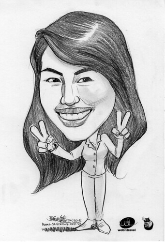 Caricatures Web in Travel 2008 Meranda Chan
