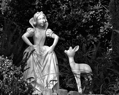 Disney - Snow White Grotto - B & W (Explored)