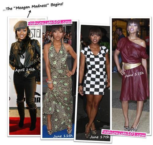 meagan good - jimmy choo + ysl trib heels by you.