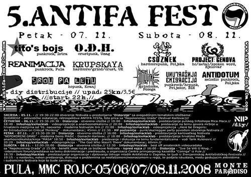 5. anti fa festival Pula Monte Paradiso Novo istarsko podzemlje Krupskaya hardcore punk koncert