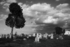 It must be Halloween (willie's stuff) Tags: blackandwhite bw halloween cemetery clouds ir headstone ruralohio thisphotorocks