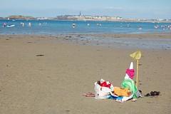 Dinard - plage St Enogat - epuisette - Saint-Malo