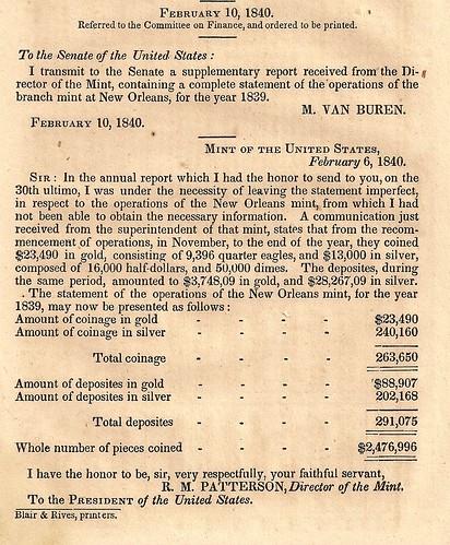 Mint Report 1839