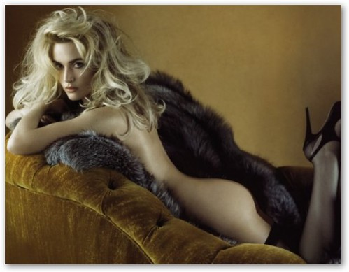 Kate Winslet Naked on Fur