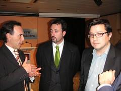 Joan A. Obregon conversant amb Victor Filloy