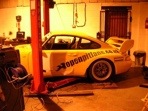 Porsche on scales