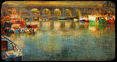 Boats and Bridges (wolfmanmoike) Tags: bridge sea car boats fishing harbour quay photoart arklow colourartaward atqueartificia
